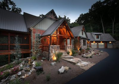 Gallery modern rustic homes for Big canoe lodge