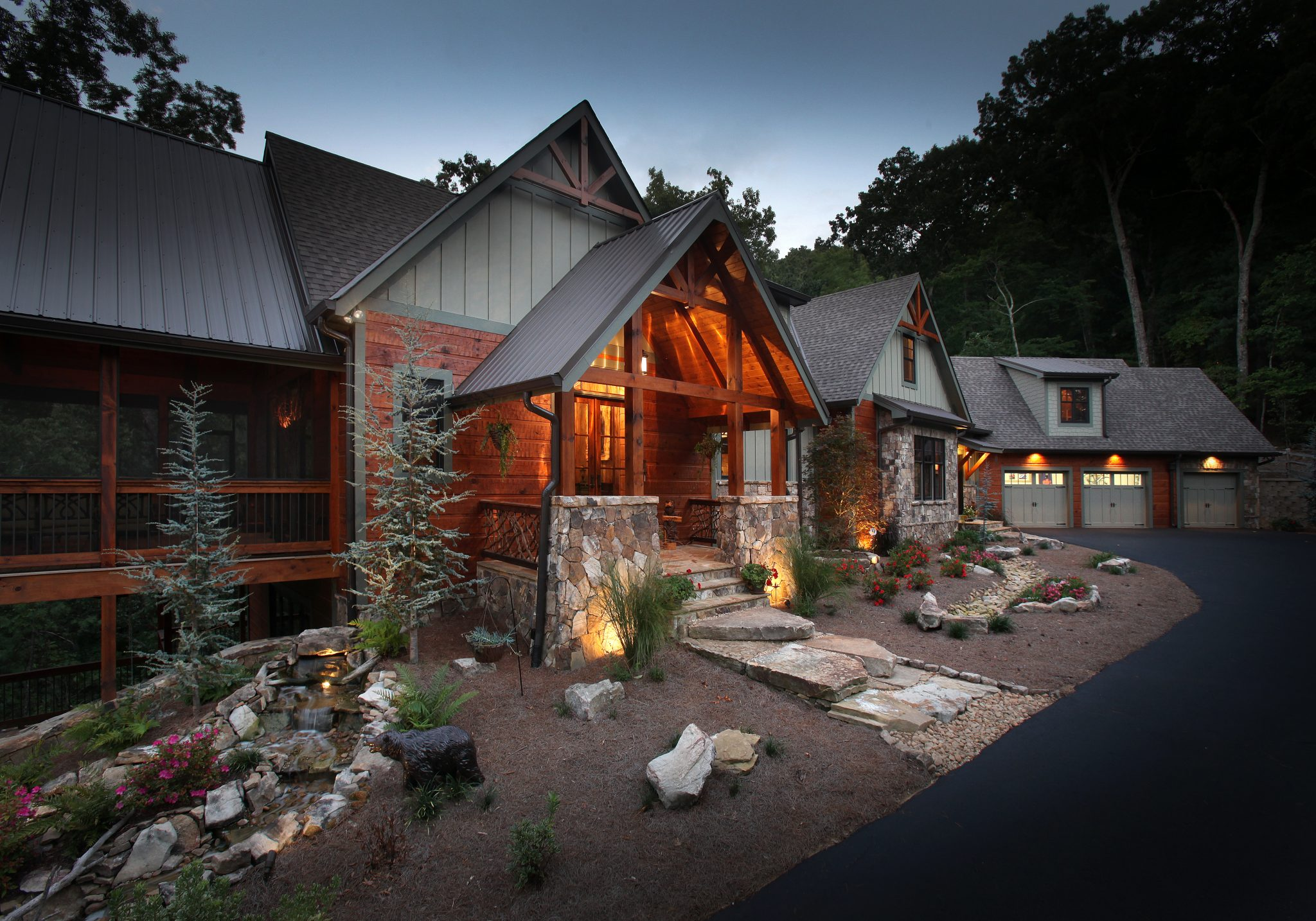 Big canoe lodge modern rustic homes for Big canoe lodge